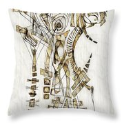 Abstraction 2563 Throw Pillow