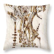 Abstraction 2564 Throw Pillow
