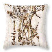 Abstraction 2565 Throw Pillow