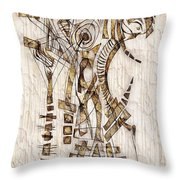 Abstraction 2567 Throw Pillow