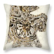 Abstraction 2798 Throw Pillow