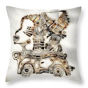 Abstraction 2807 Throw Pillow