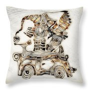 Abstraction 2808 Throw Pillow