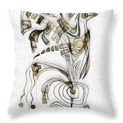 Abstraction 2831 Throw Pillow
