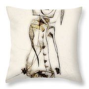 Abstraction 2836 Throw Pillow