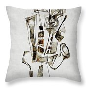 Abstraction 2845 Throw Pillow