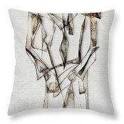 Abstraction 2849 Throw Pillow
