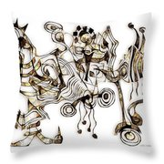 Abstraction 2865 Throw Pillow
