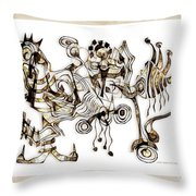 Abstraction 2869 Throw Pillow