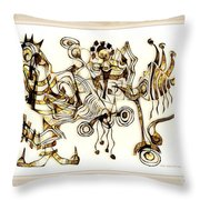 Abstraction 2872 Throw Pillow