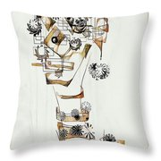 Abstraction 2990 Throw Pillow