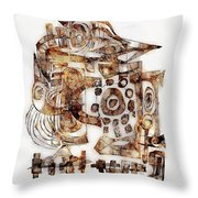 Abstraction 3052 Throw Pillow