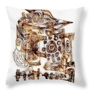 Abstraction 3053 Throw Pillow