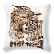 Abstraction 3055 Throw Pillow