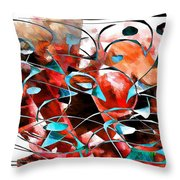 Abstraction 3422 Throw Pillow