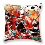 Abstraction 3423 Throw Pillow