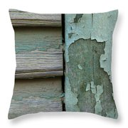 Abstraction In Peeling Paint Close-up Throw Pillow