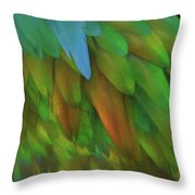 Abstractions From Nature - Pigeon Feathers Throw Pillow