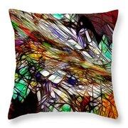 Abstracto En Dimension Throw Pillow
