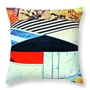 Abstracts On Red Throw Pillow