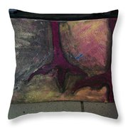 Abstracty Crows Feet Throw Pillow