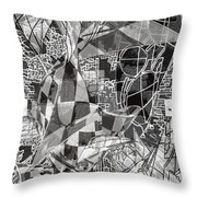 pERMEABLE aBSTRACTION  Throw Pillow