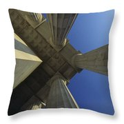 Abstrat View Of Columns At Lincoln Throw Pillow