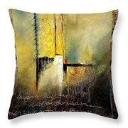 Abstrct 3 Throw Pillow