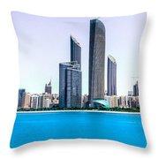Abu Dhabi Corniche Throw Pillow
