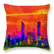 Abu Dhabi Skyline - Da Throw Pillow