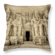 Abu Simbel Antiqued Throw Pillow