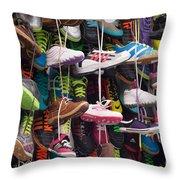 Abundance Of Shoes Throw Pillow