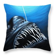 Abyssal Angler Throw Pillow