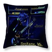 Ac Dc Electrifies The Blues In Spokane Throw Pillow