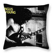 Ac Dc Spokane 1978 Throw Pillow