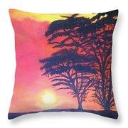 Acacias At Masai Mara Throw Pillow