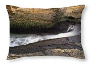 Acadia National Park - Maine Usa Thunder Hole Throw Pillow