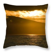 Acadia National Park Sunset Throw Pillow