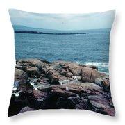Acadia Park Maine Coast Throw Pillow