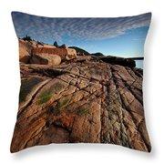 Acadia Rocks Throw Pillow
