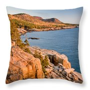 Acadian Cliffs In Autumn 1 Throw Pillow by Susan Cole Kelly