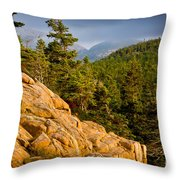 Acadian Mountains Throw Pillow
