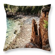 Acadia's Monument Cove Throw Pillow