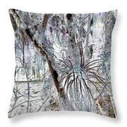 Accentuating The Negative Throw Pillow