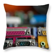 Access To The Cyber Dimension Throw Pillow