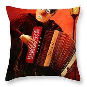 Accordeon Throw Pillow