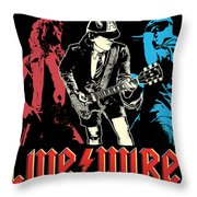 Acdc No.02 Throw Pillow by Caio Caldas