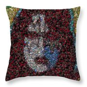 Ace Frehley Poker Chip Mosaic Throw Pillow
