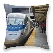 Acela Train 14bos072 Throw Pillow