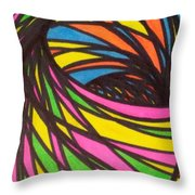 Aceo Abstract Spiral Throw Pillow